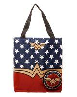Wonder Woman Packable Tote Bag Shopping Grocery WW Logo Superhero DC Comics