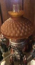 Large & Very Heavy Brass Lamp Convert To Electric...Unique & Vintage