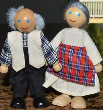 GRANDMA GRANDPA grandparnets PLAN or Melissa Doug wood Wood Dollhouse Dolls
