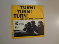 "BYRDS: Turn! Turn! Turn!-She Don't Care About Time-Denmark 7"" 1965 CBS 1.897 PSL"