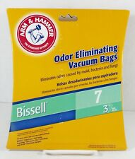 Vacuum Cleaner Bags Bissell 7 Arm and Hammer Odor Eliminating 3 Bags Old Stock