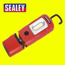 Sealey LED3601 RED Rechargeable 360° Inspection Lamp 2w Cob 1w Led New