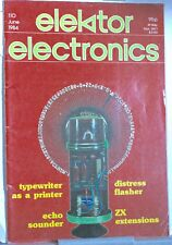 Elektor Magazine June 1984 - Echo Sounder- Distress Flasher - Lead Acid Charger