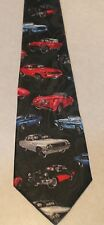 OLD CHEVY'S CAR'S ALL OVER A NEW BLACK 100% POLYESTER NECK TIE! #2