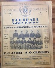 More details for 1949/50 coupe de france f.c. annecy v s.o.chambery 30/10/49