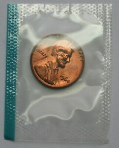 1964 Lincoln Memorial Cent BU Penny In Mint Cello US Coin
