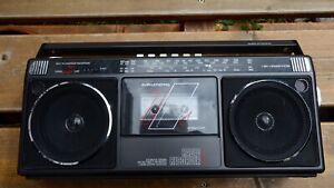 Grundig RR 455 Radio Cassettenrekorder Cassette Recorder Player schwarz Transist