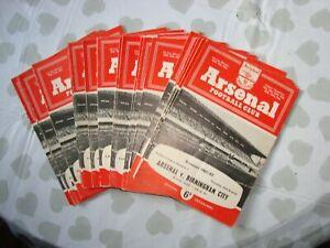 Full Season of Arsenal 1962-63 home programmes - 24 programmes in all