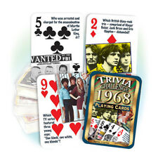 Flickback 1968 Trivia Playing Cards 50th Birthday or 50th Anniversary Gift