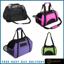 More details for large pet carrier bag avc portable soft fabric folding dog cat puppy travel