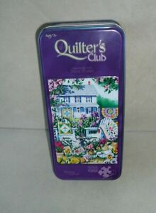 """Jigsaw Puzzle Quilters Club Spring Dance 500 pcs. 13"""" x 19"""" in Metal Tin"""