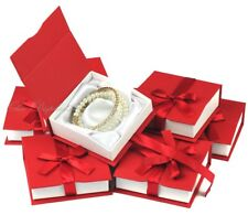 LOT OF 7 BANGLE BOX JEWELRY GIFT BOX BRACELET BOX BANGLE RED WATCH BOX RED DEAL!
