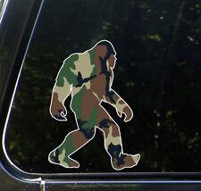 "Ps-001 - Sasquatch in Camo - Camouflage Bigfoot - Sticker © Yydco.(4""w x 6""h)"