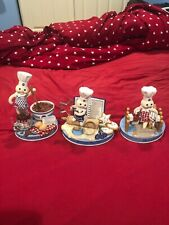 3 The Danbury Mint's Limited Edition Pillsbury Figurines