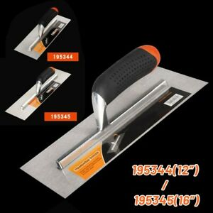 16*4 Inch Trowel Concrete Cement Finishing Tool 4.7 Stainless Steel Rubber Hand