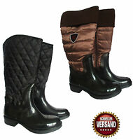 Ladies Quilted Boots Riding Boots Wellington Boots Padded Wellies Winter