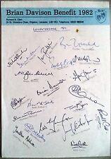 LEICESTERSHIRE 1982 BRIAN DAVISON BENEFIT YEAR CRICKET AUTOGRAPH SHEET