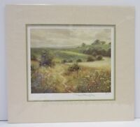 David Dipnall, Up Hill - Signed Mounted Limited Edition Landscape Print