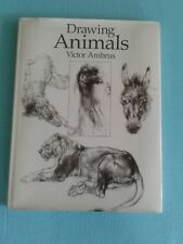 DRAWING ANIMALS Victor Ambrus Large Hardcover with Dust Jacket Art Instruction