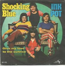 SHOCKING BLUE Ink pot FRENCH SINGLE DISCAZ 1972 PLASTIC LABEL