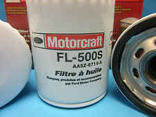3X Genuine FORD OEM Engine Oil Filter Motorcraft FL-500S Buick Cady Chevy Jeep +