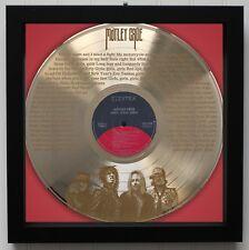 """Motley Crue """"Girls, Girls, Girls"""" Framed Laser Etched Lp Record """"M4"""""""