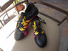 ADIDAS Male X 15.1 Black with Pink and Gold AG/FG Cleats    Size 7 1/2