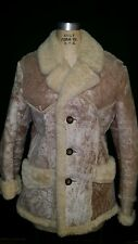 Authentic United Sheep Skin Lined Wool Shearling Genuine Western Rancher Coat 38