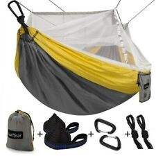 Best Hammock Camping With Mosquito Net Double Tent Tree Straps Parachute Nylon