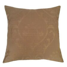 "Linen Lotus Pattern 18""x18"" Beige Decorative/Throw Pillow Case/Cushion Cover"