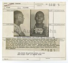 Police Booking Sheet - Arthur Johnson/Escaped Convict - Gould, Arkansas - 1941
