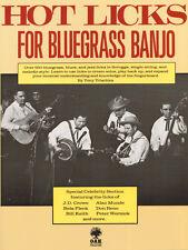 Hot Licks for Bluegrass Banjo Tony Trischka Tabulatur Songbook