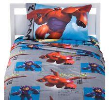 NEW NWT Disney Big Hero 6 3-Piece TWIN SHEET & PILLOWCASE BED BEDDING SET BOYS