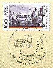 BRD 1994: Öffnung der innerdeutschen Grenzen Nr. 1769! Bonner Stempel! 1A 158