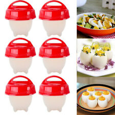 3/6Pcs Silicone Egg Cooker Cup Maker Hard Boil Egg Mold Kitchen Divider Tool Kit