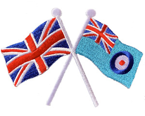 RAF Ensign and  Union Jack crossed flag Iron or sew on patch