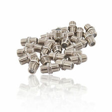 25x F Type Connector Satellite Cable F-F Coupler Joiner with Nut & Washer-Nickel