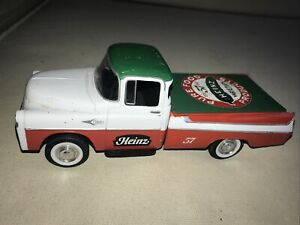 1957 DODGE SWEPT-SIDE PICKUP TRUCK COVERED BED 1/25 DIECAST HEINZ KETCHUP NEW