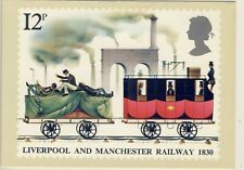 C 055 BRITISH PHQ POSTCARD LIVERPOOL AND MANCHESTER RAILWAY