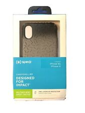 New iPhone X & XS Speck Candyshell Case Black Ombre Gunmetal Grey Textured