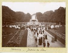 Pologne, Varsovie, Jardins de Saxe (Ogród Sask), ca.1900, vintage citrate print