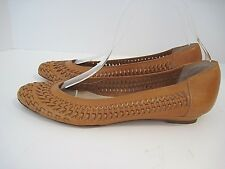 a1db83deade9  495 Loeffler Randall Brown Woven Leather Flats Italy Women s Size 9 ...