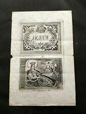 Incisione su carta di Santa Filomena vergine e martire