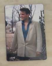 "Elvis Presley in White Jacket Blue Shirt Kitchen Fridge Magnet 2.25"" x 3.25"""