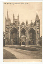 Cambridgeshire - Peterborough Cathedral, West Front - 1900's Photochrom Postcard
