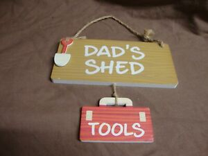 """""""DAD'S SHED"""" PLAQUE"""