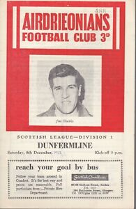Airdrie Home Programmes  from 1957-1969