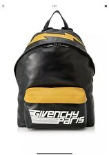 ba4312e027 GIVENCHY MENS LEATHER ICONIC PRINT BACKPACK.