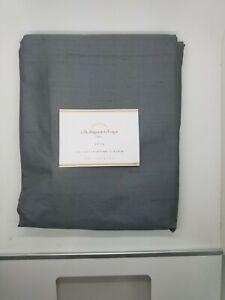 "Pottery Barn Silk Dupioni Cotton Lining Flagstone Gray Panel Drape 108"" #4540"