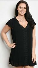 WOMENS PLUS DRESS 2X NEW BLACK LACE TUNIC TOP 18 20 XXL CUTE NWT BTS DEAL